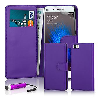 32nd Book wallet case + stylus for Xiaomi Mi5 - Purple