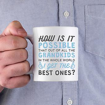 Best Grandkid In The Whole World Ceramic Mug Gifts to Grandfather For Father's Day