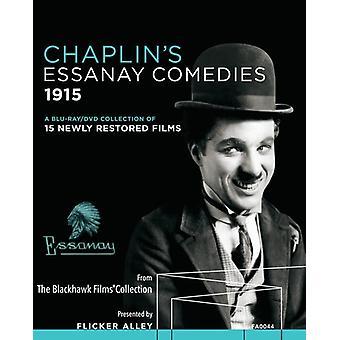 Chaplins Essanay komedier (1915) [Blu-ray] USA importerer