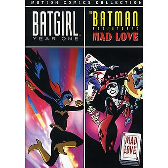 Batgirl: Year One & Batman Adv: Mad Love Motion Co [DVD] USA import