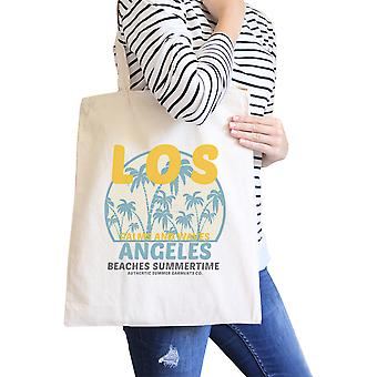 Los Angeles Beaches Summertime Natural Beach Tote Vintage Design