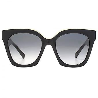 Marc Jacobs Metal Twist pande detaljer Cateye solbriller i sort