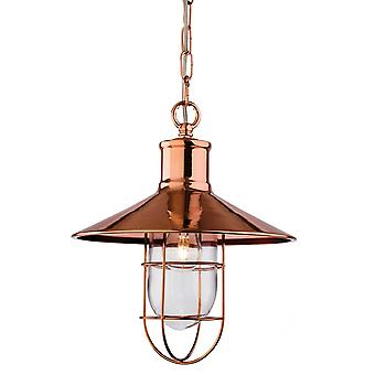 Firstlight Vintage, American Tradtional Fisherman Copper Ceiling Pendant Light Fitting