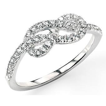 925 srebrny cyrkonia Trend pierścionek Infinity