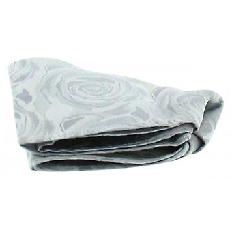 David Van Hagen Wedding Rose Silk Handkerchief - Silver