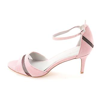 Calvin Klein Womens KAITLYN Suede Open Toe Ankle Strap Classic Pump
