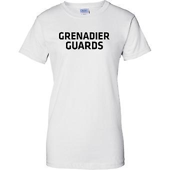 Lizenzierte MOD - britische Armee Grenadier Guards - Text - Damen T Shirt
