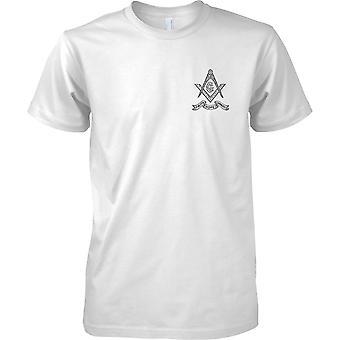 Diseño de la camiseta para hombre pecho fe esperanza caridad - emblema masónico-