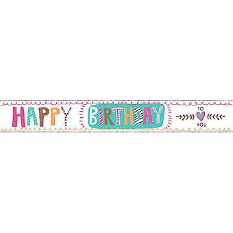 Simon Elvin Butterflies Happy Birthday Foil Banner