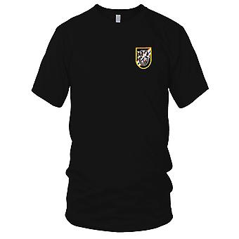 US Army - 46th Special Forces Group Flash with Crest Embroidered Patch - Ladies T Shirt