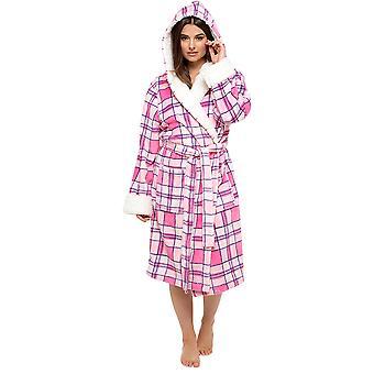 26ebe96a1a Tom Franks Ladies Plaid Check Bathrobe Dressing Gown