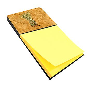 Pineapple Refiillable Sticky Note Holder or Postit Note Dispenser