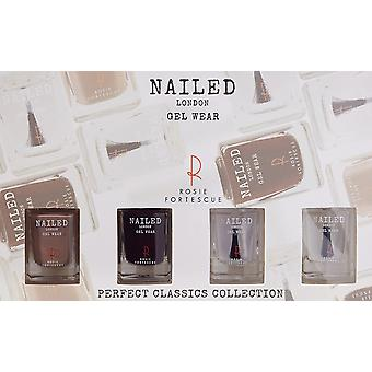 Nailed London Perfect Classics Collection Gift Set 2 x 10ml Nail Polish + 10ml Top Coat + 10ml Base Coat