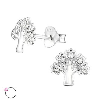 Tree Of Life crystal from Swarovski® - 925 Sterling Silver Ear Studs