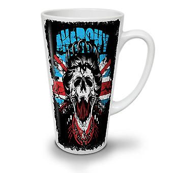 Anarchy Skull Flag UK NEW White Tea Coffee Ceramic Latte Mug 17 oz | Wellcoda
