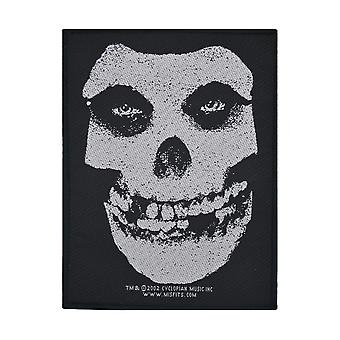 Misfits White Skull Woven Patch