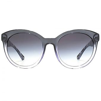 Ralph By Ralph Lauren Peaked Round Sunglasses In Transparent Black Patterned