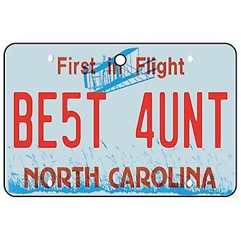 North Carolina - beste tante License Plate auto luchtverfrisser
