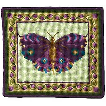 Purple Butterfly Needlepoint Kit