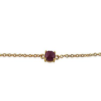 Amour Damier 9ct Yellow Gold 0.75ct Ruby Checkerboard 19cm Bracelet by Gemondo