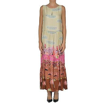 Soallure ladies MCGLVS003218E multicolor viscose dress