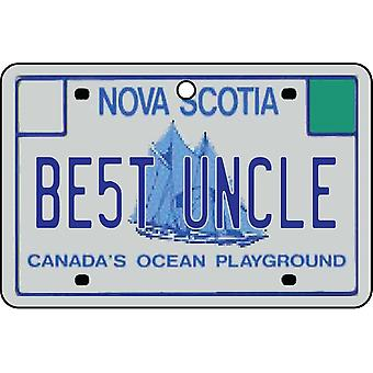 NOVA SCOTIA - Best Uncle License Plate Car Air Freshener