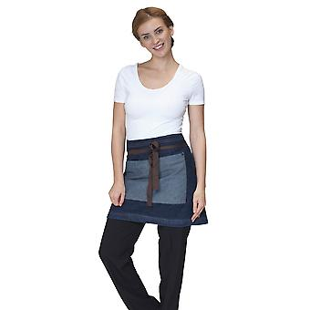 Dennys Washed Denim Contrast Waist Apron