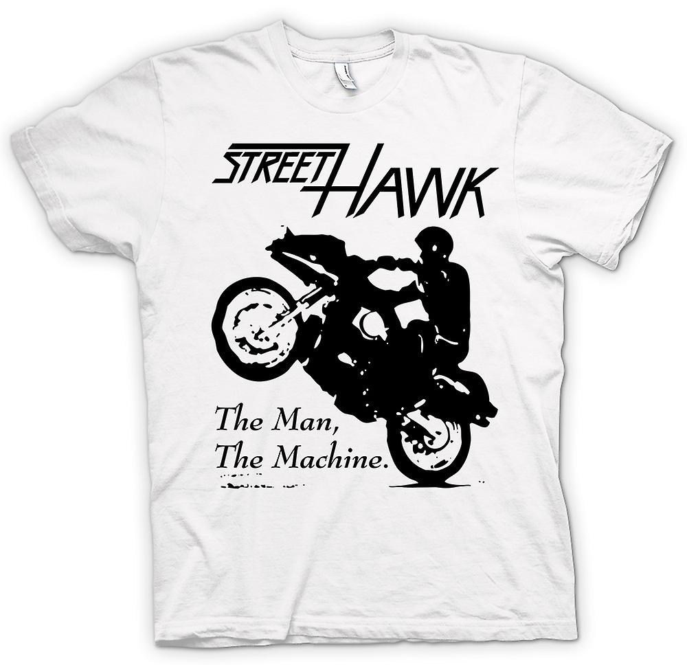 Mens T-shirt - Street Hawk - Bike - Crime Fighter