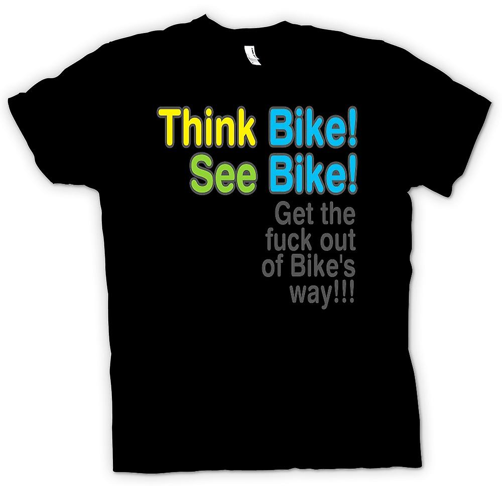 Mens T-shirt - Think Bike, See Bike - Quote