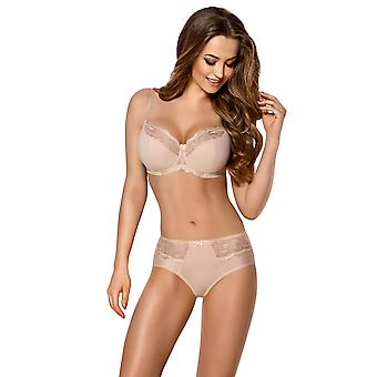 Vena VF-328 Women's Beige Solid Colour Lace Knickers Panty Brief