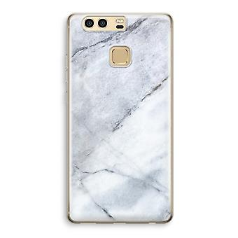 Huawei P9 Transparent Case (Soft) - Marble white