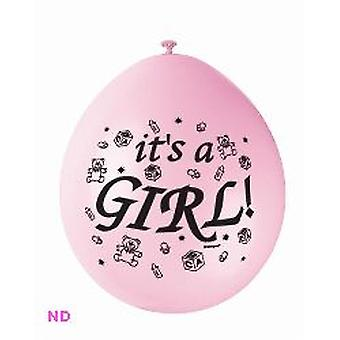 """Balloons 'IT'S A GIRL' 9"""" Latex Balloons Pink (10)"""