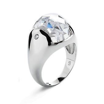 Orphelia Silver 925 Ring Bombe Clear  Zirconium   ZR-3659