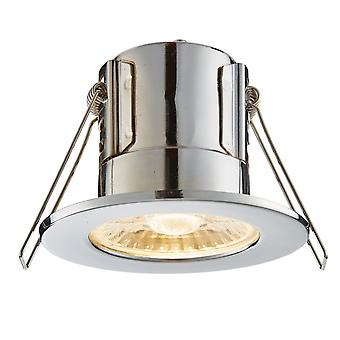 Saxby Lighting Shield Eco 500 IP65 4W 3000K Dimmable LED Downlight In Chrome