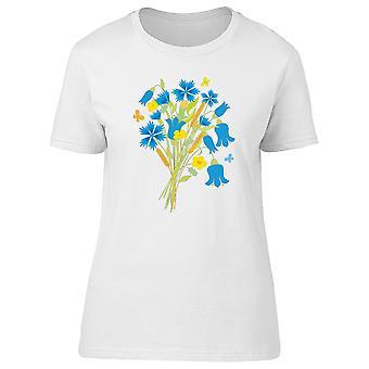 Blue Flowers Bouquet Tee Women's -Image by Shutterstock
