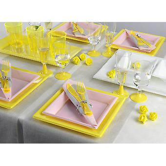 Party tableware set for 8 guests 129-teilig party package spring party party package