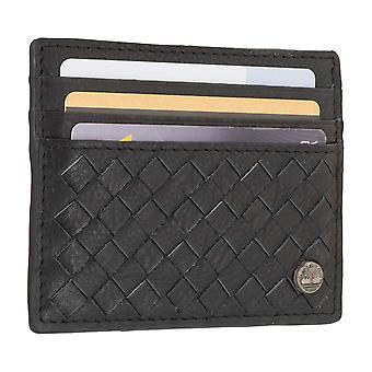 Porta carte di credito di uomo Timberland, portabiglietti da visita, carta caso nero 7099