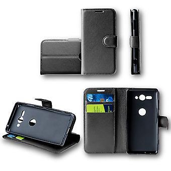 För Nokia 6 2018 Pocket plånbok premium svart skyddande sleeve fodral cover fodral nya tillbehör
