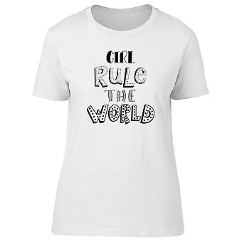 Quote Girl Rule The World Tee Women's -Image by Shutterstock