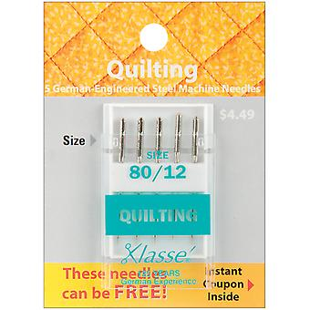 Klasse Quilting Machine Needles-Size 12/80 5/Pkg