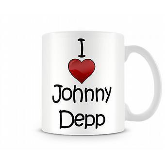 Amo la tazza stampata Johnny Depp