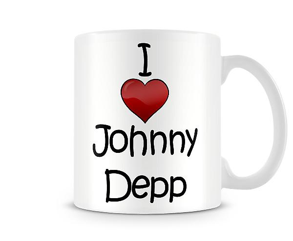 I Love Johnny Depp Printed Mug