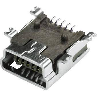 Mounted socket Mini USB Socket, horizontal mount MUB2B5SMD 1 Port econ connect Content: 1 pc(s)