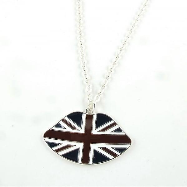 Union Jack Wear Union Jack Lips Necklace