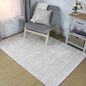 Velvet Plain Ivory  Rectangle Rugs Plain/Nearly Plain Rugs