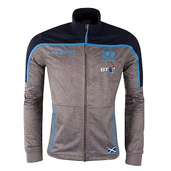 2018-2019 Scotland Macron Rugby Anthem Jacket (Charcoal)