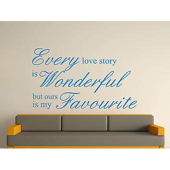 Every Love Story Is Wonderful Wall Art Sticker - Olympic Blue