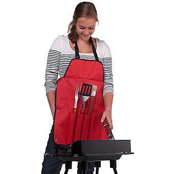 BBQ collection RVS barbecue bestek (4 dlg) met schort