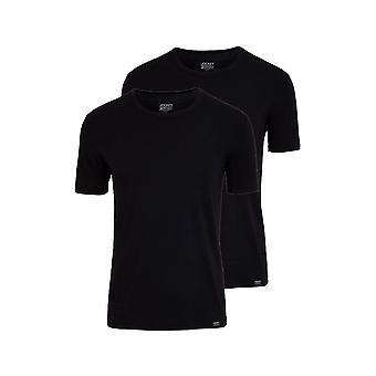 Jockey 2-Pack Cotton Stretch Crew-Neck T-Shirts, Black