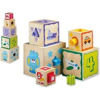 Joueco Stack tower with shapes Salas